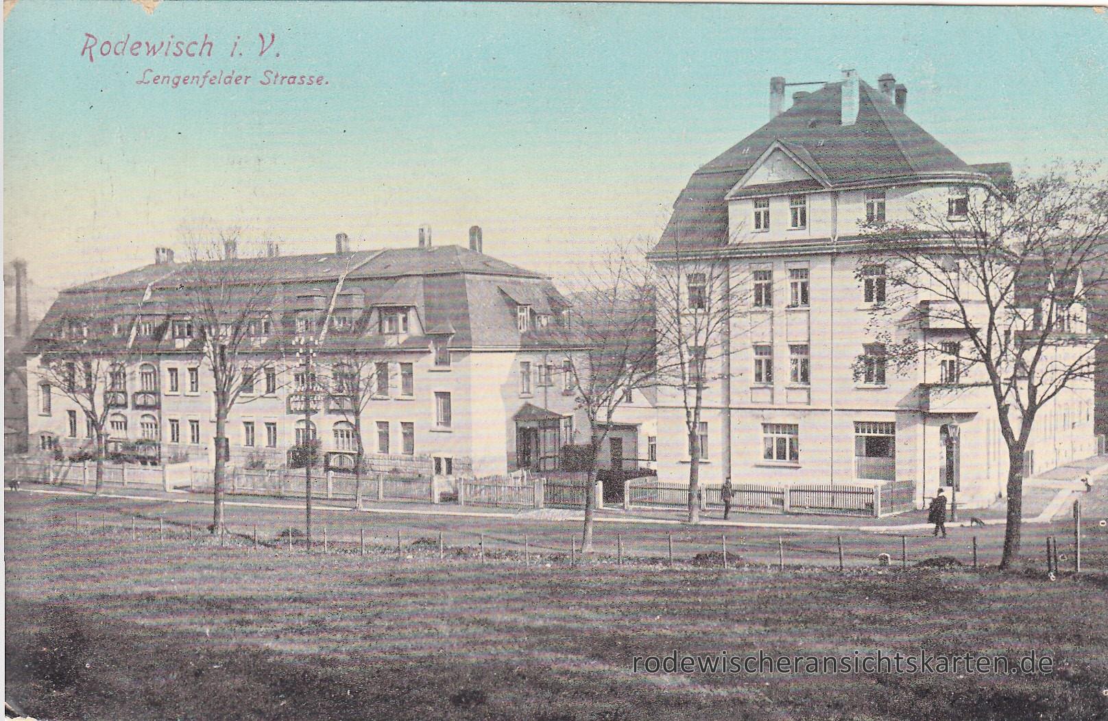 Lengenfelder Straße   Ansichtskarten aus Rodewisch