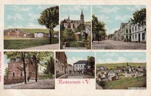 Mehrbildkarten nur Rodewisch 1916