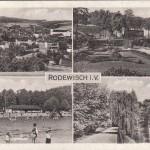 Mehrbildkarten nur Rodewisch 1950