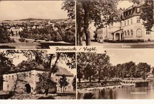 Mehrbildkarten nur Rodewisch 1957