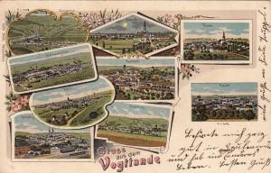 Mehrbildkarten mit Rodewisch 1908