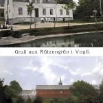 """Retaurant """"Jägerhalle"""" Rützengrün 1910"""